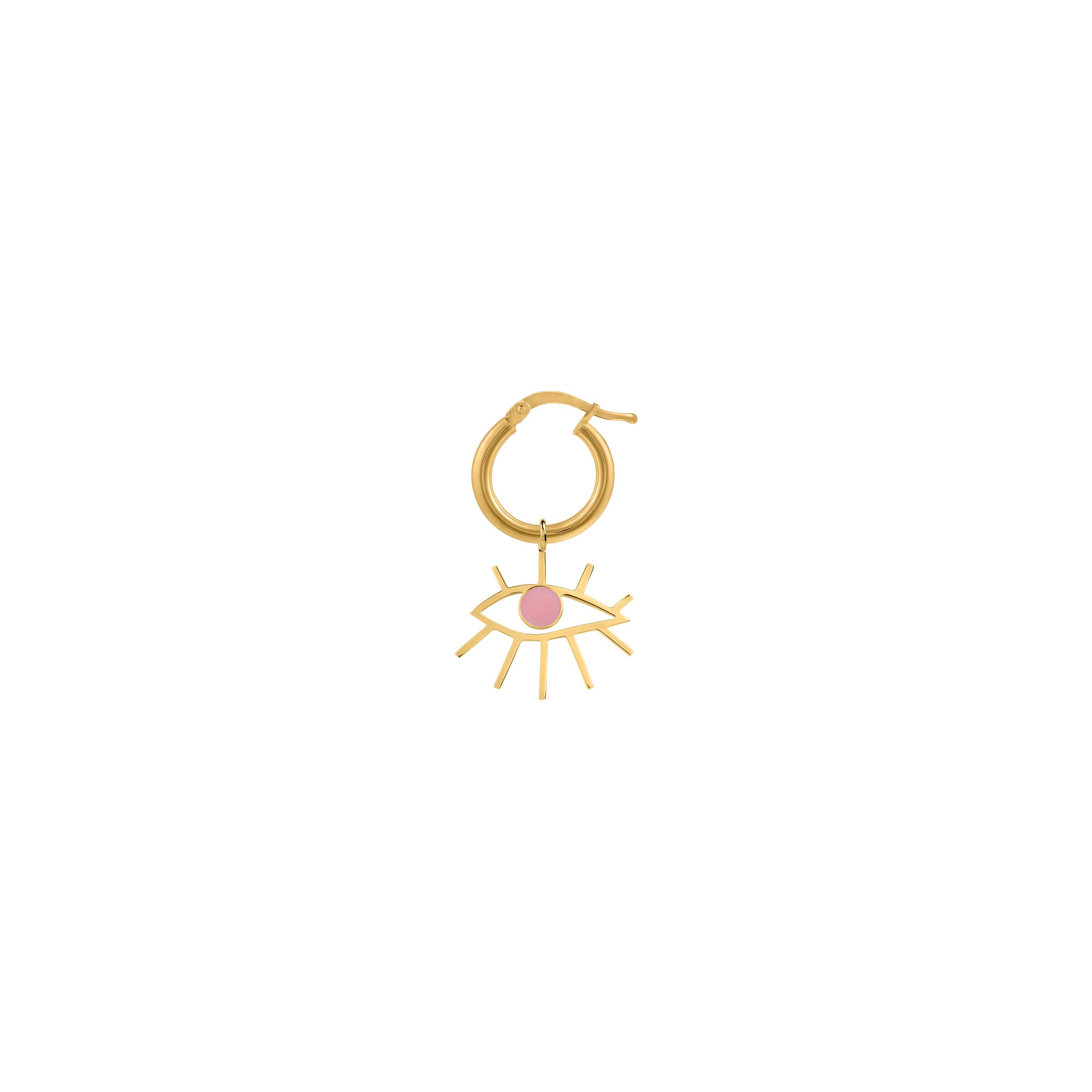 mini circle eye/ pink