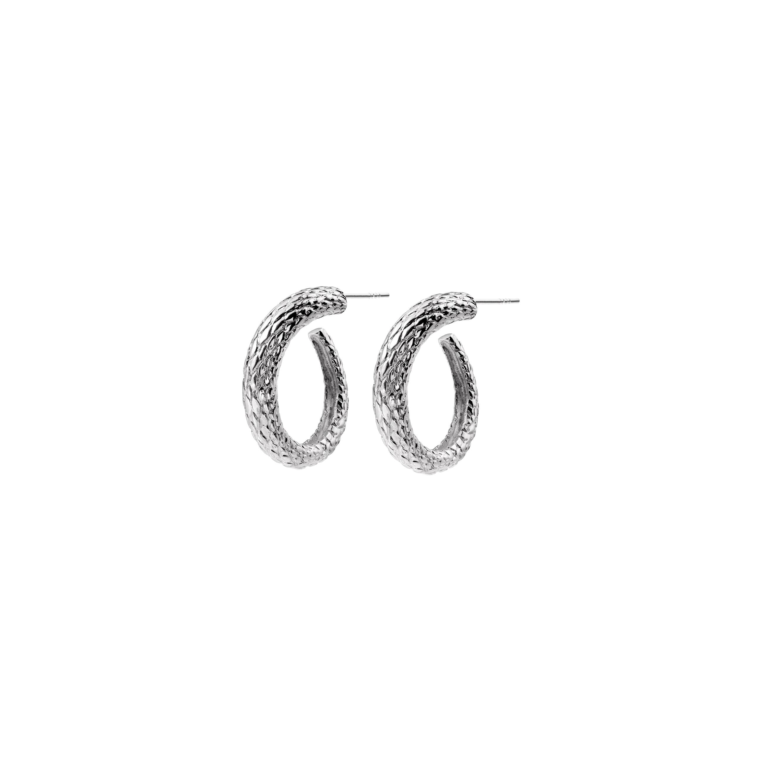 snake hoops silver