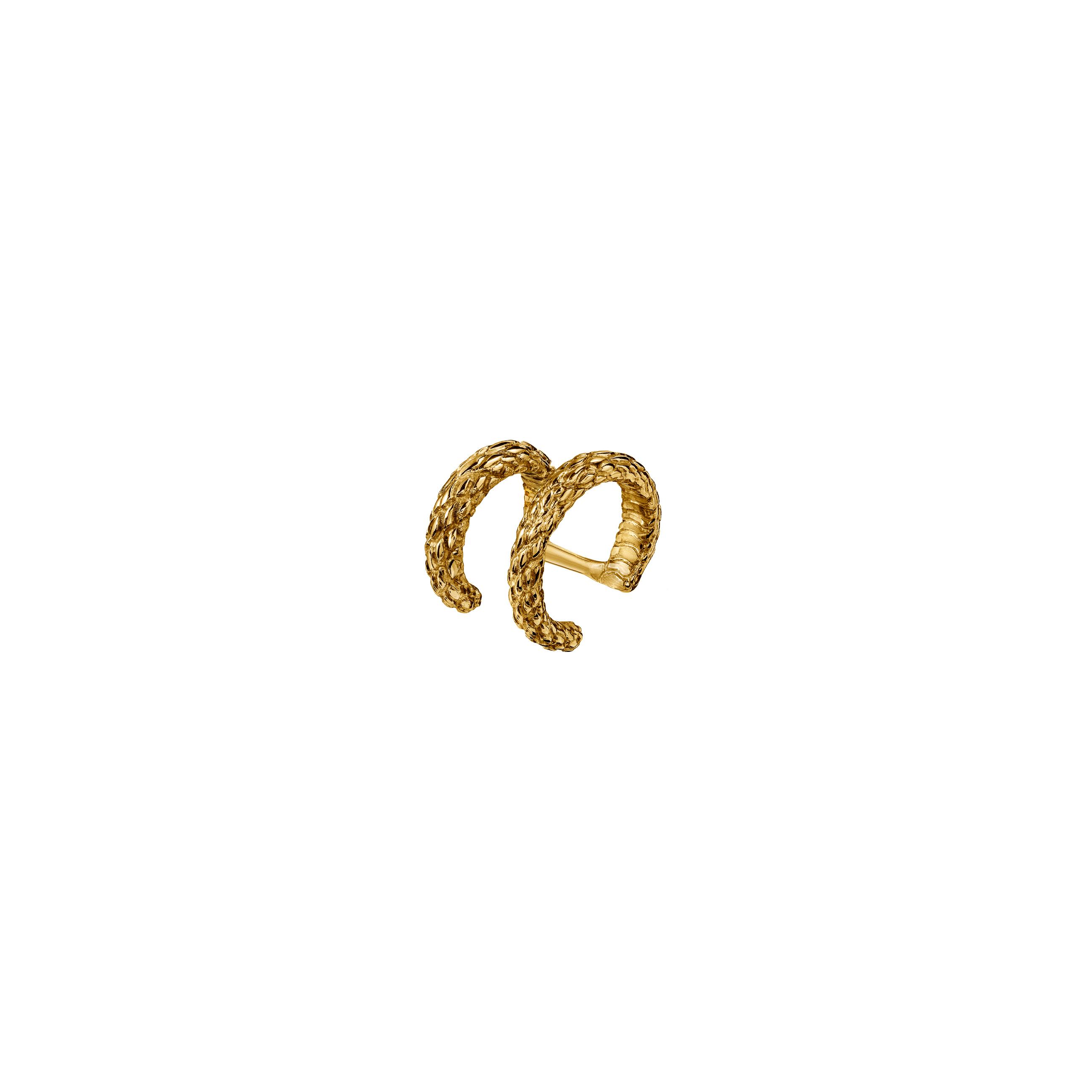double ear cuff snake / gold