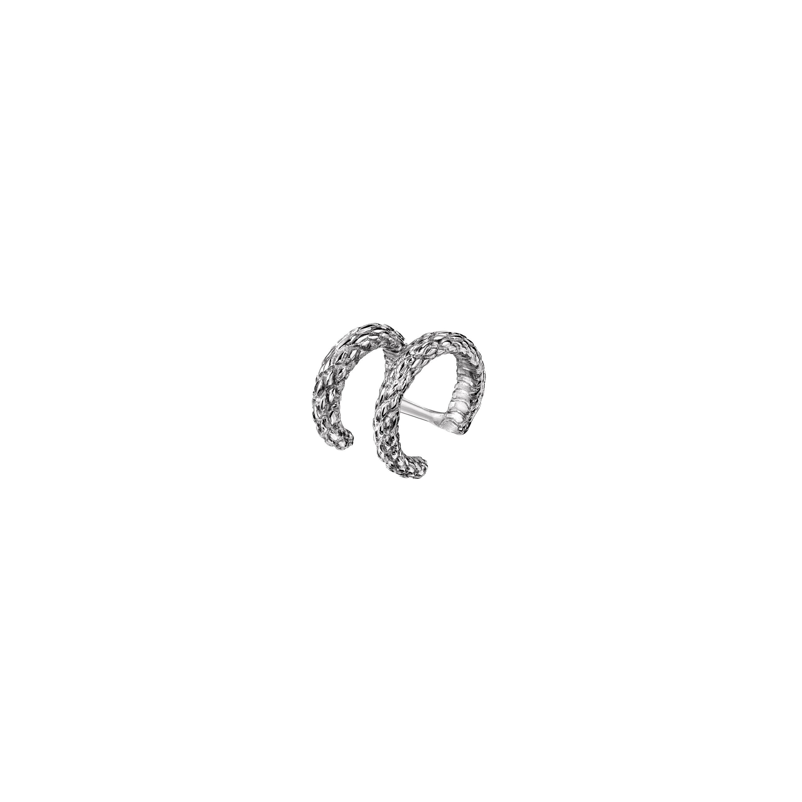 Double Ear Cuff Snake Silver