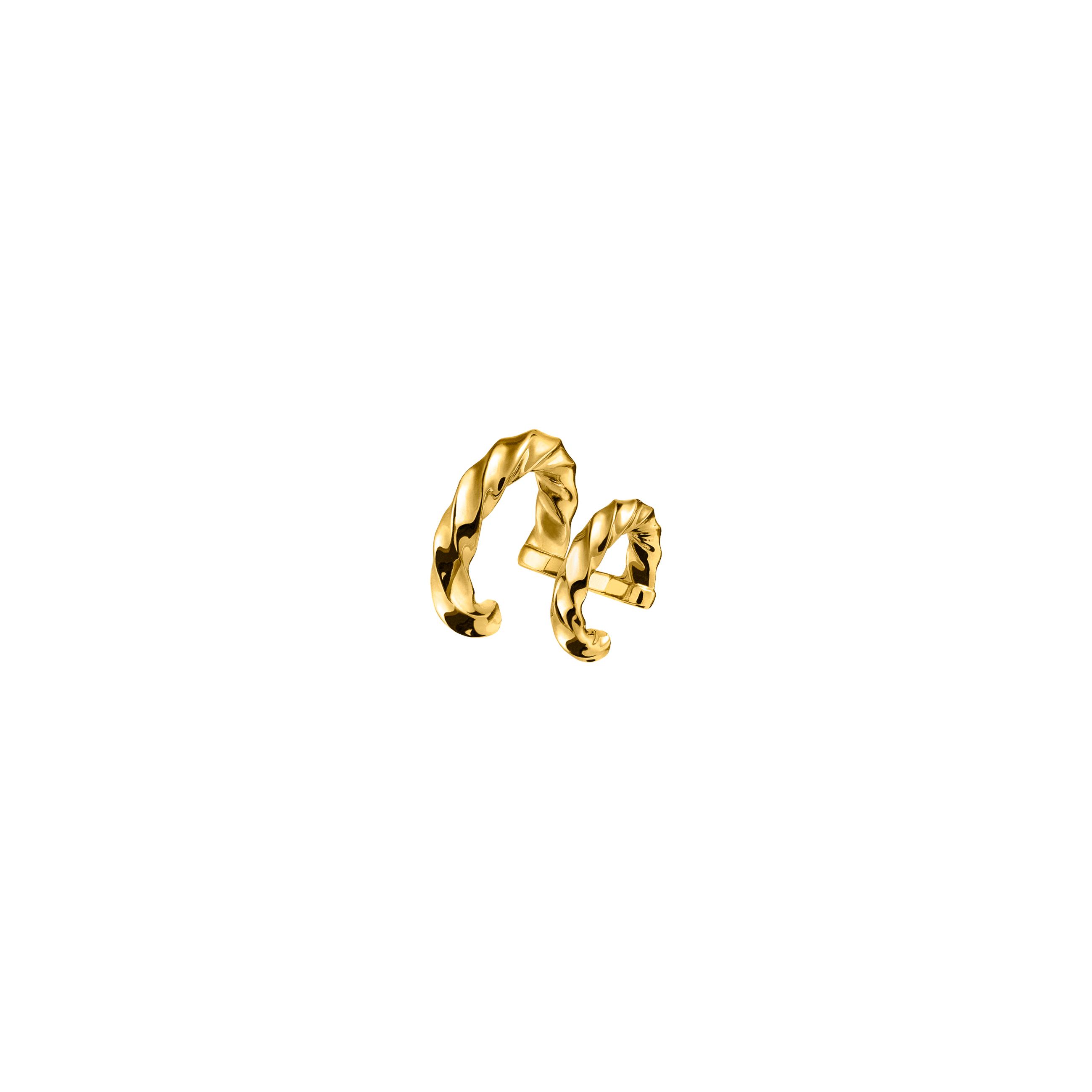 Podwójna Nausznica Twist Gold