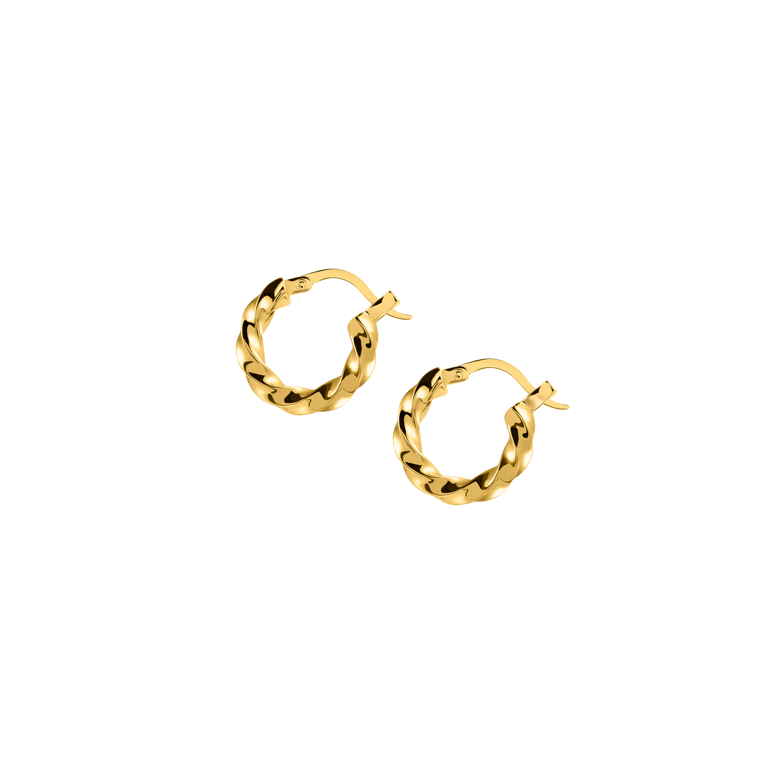 Hoops Medium Twist Gold