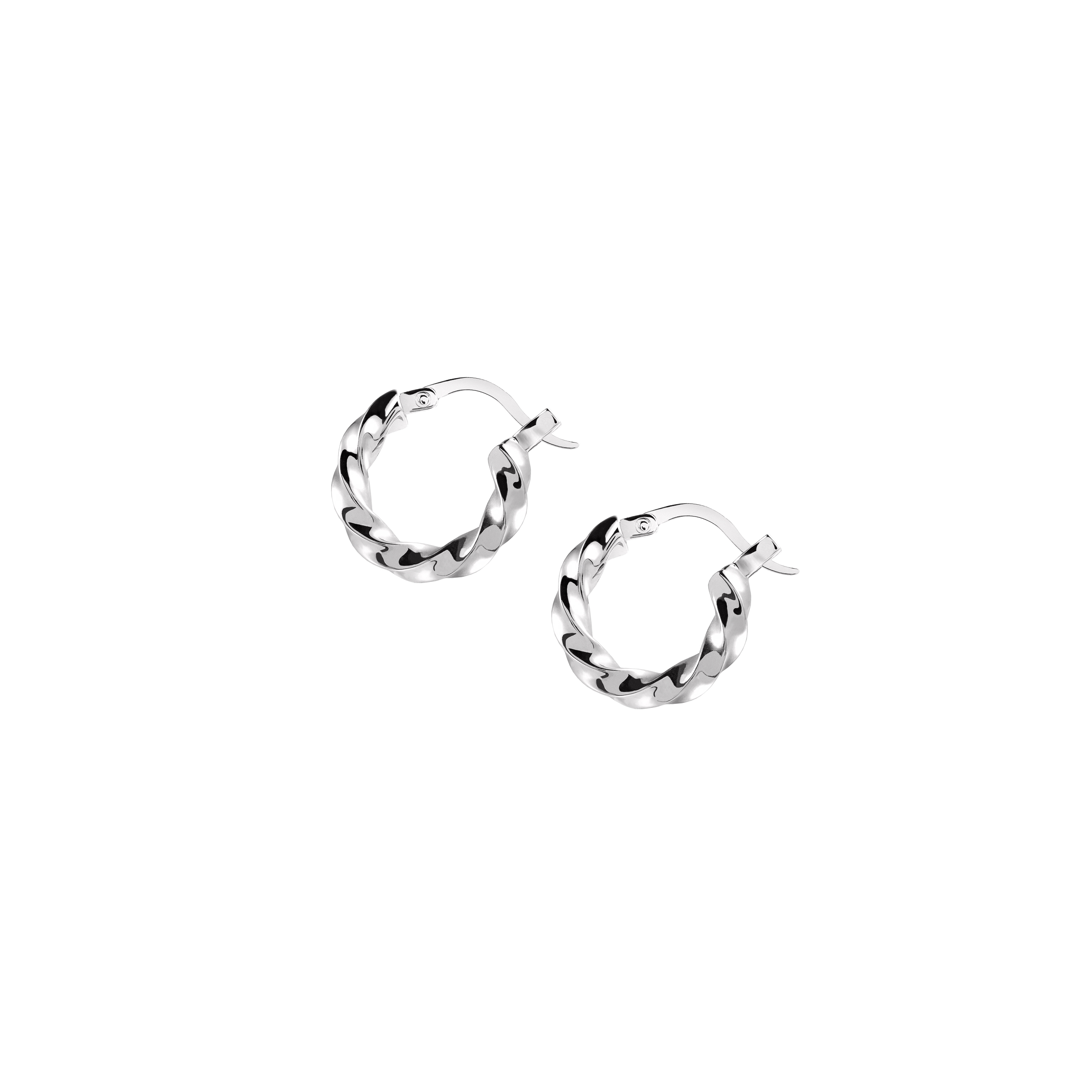 Hoops Medium Twist Silver