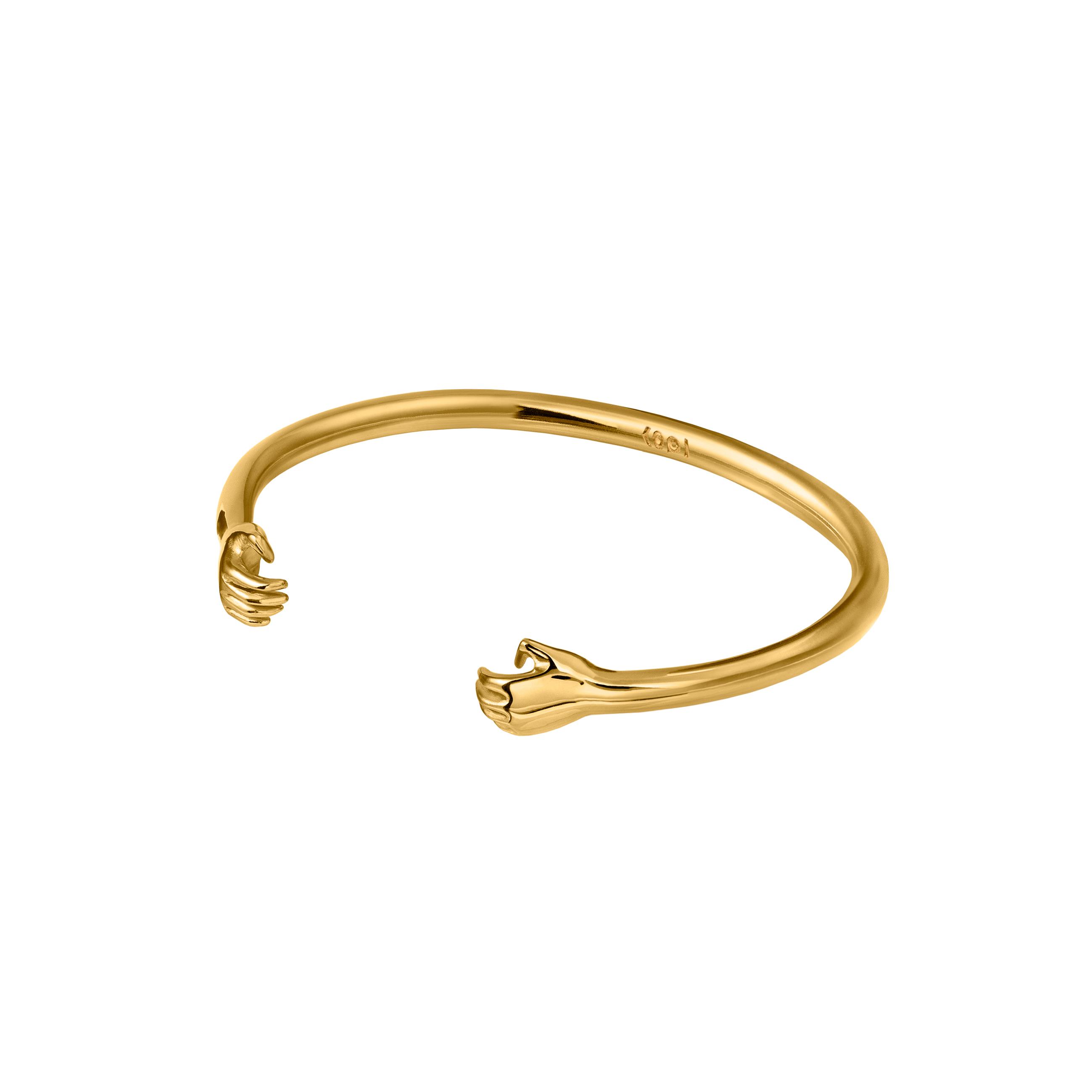 Hand Bracelet 3D Gold