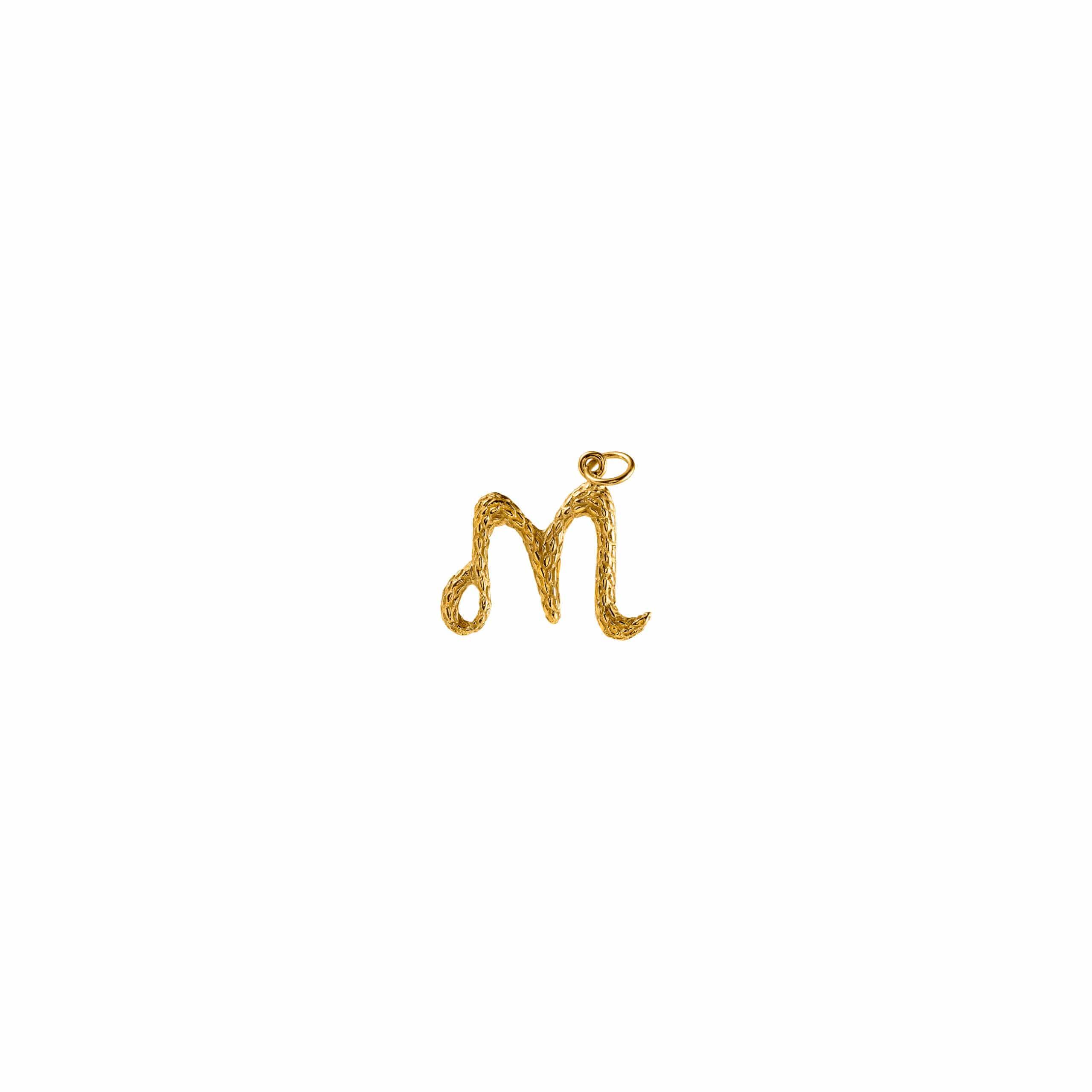 Zawieszka Literka M Gold