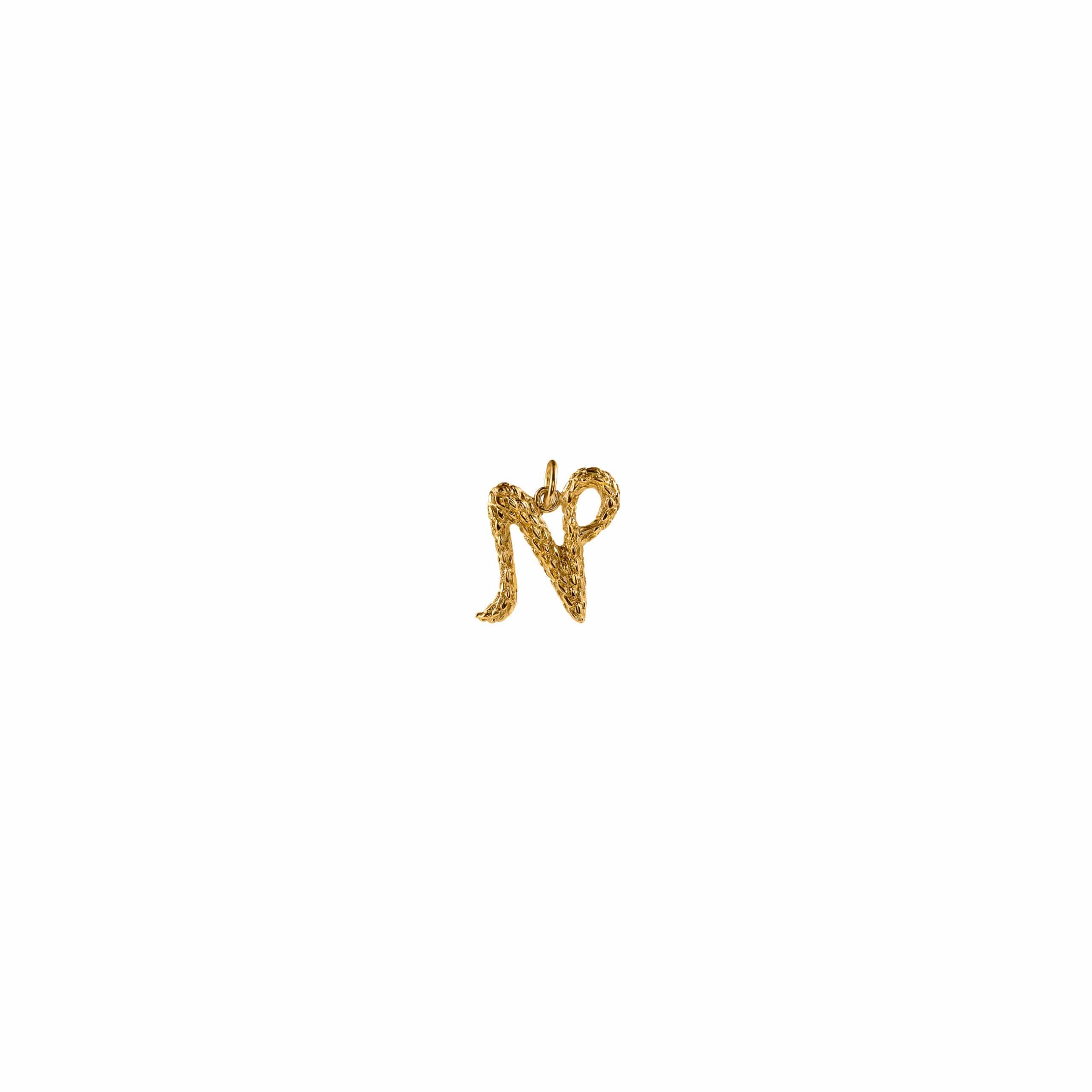 Zawieszka Literka N Gold