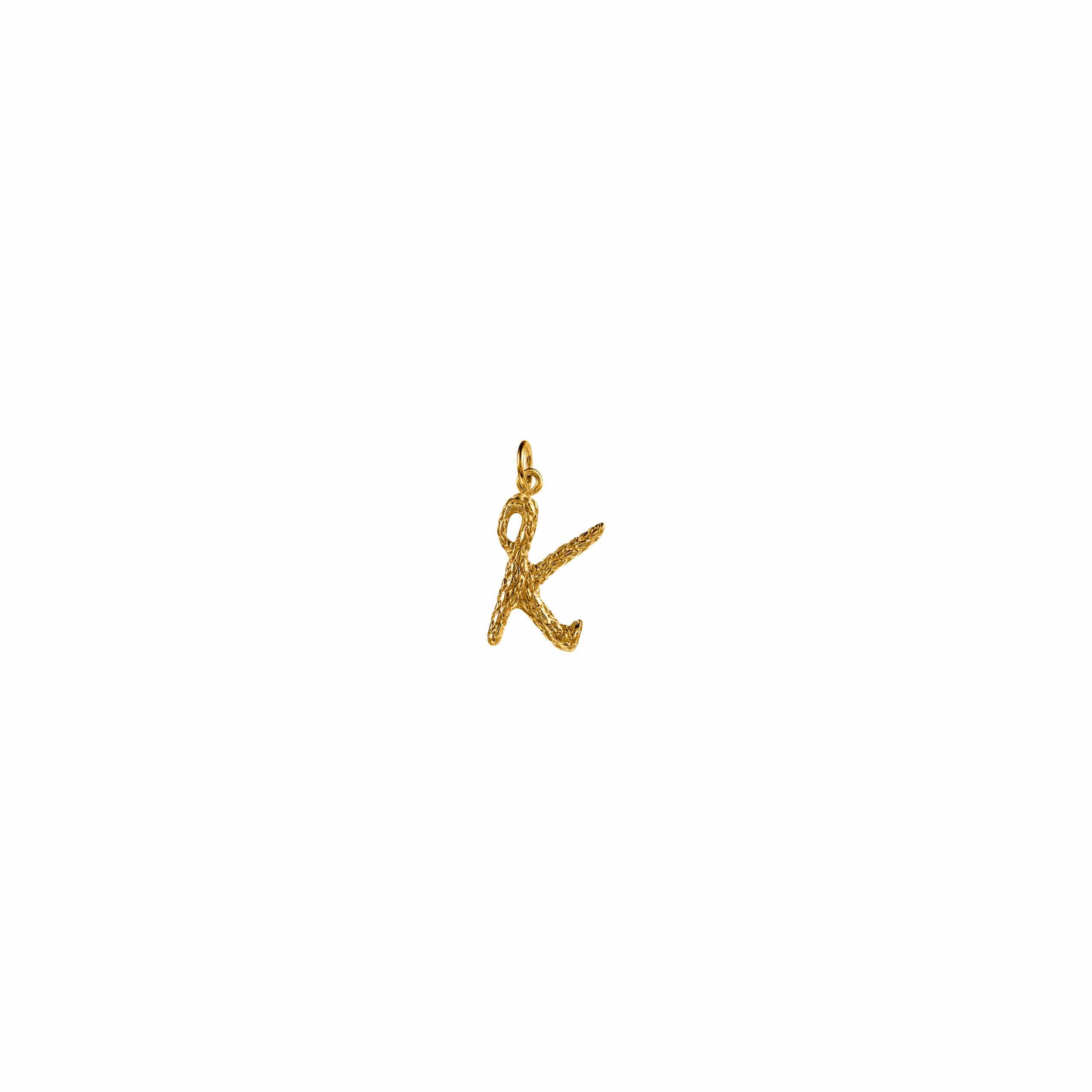 Zawieszka Literka K Gold