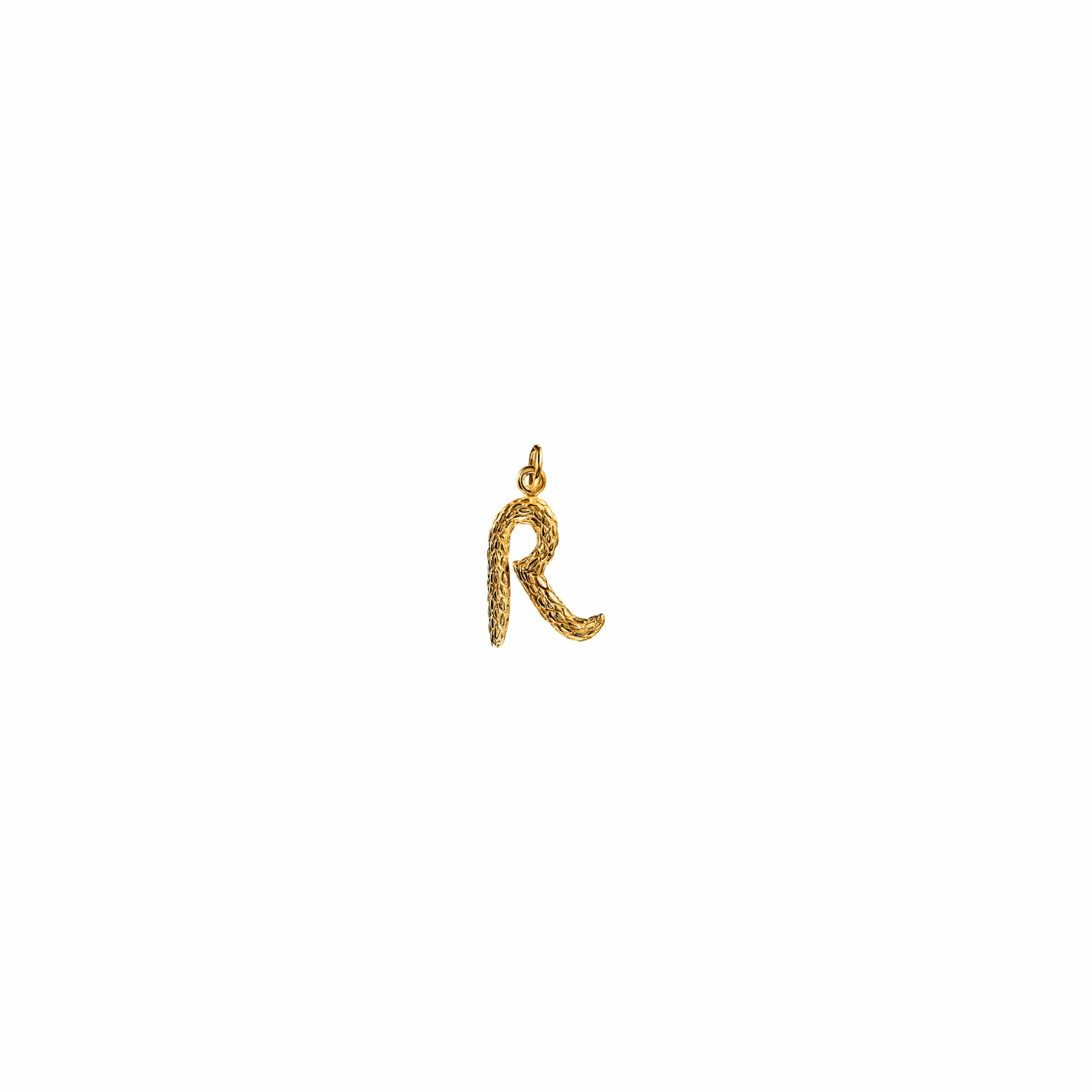 Zawieszka Literka R Gold