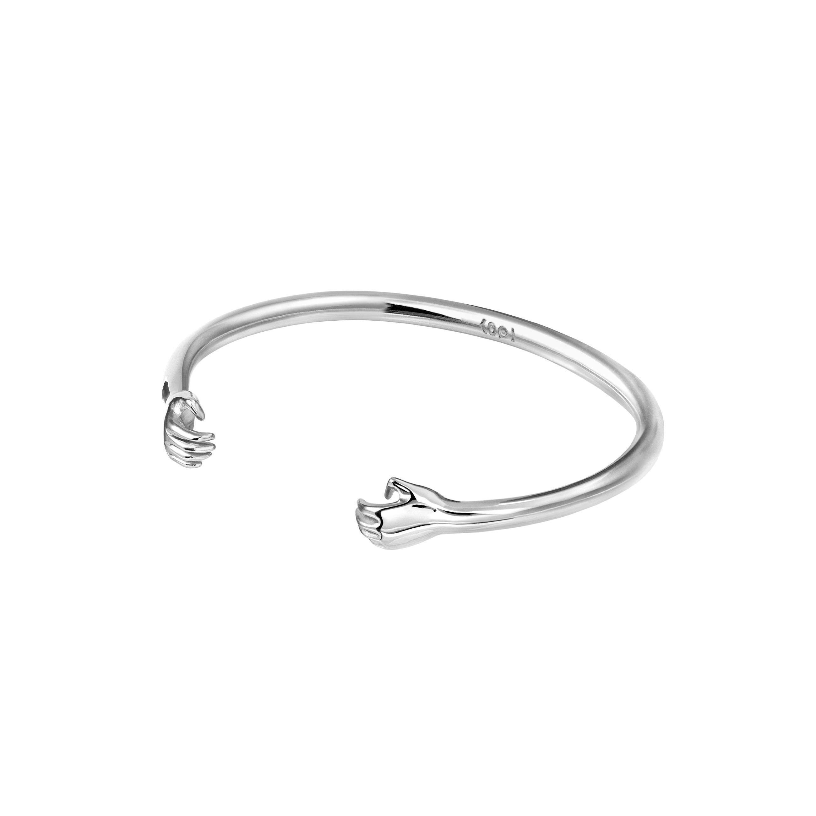Hand Bracelet 3D Silver EN
