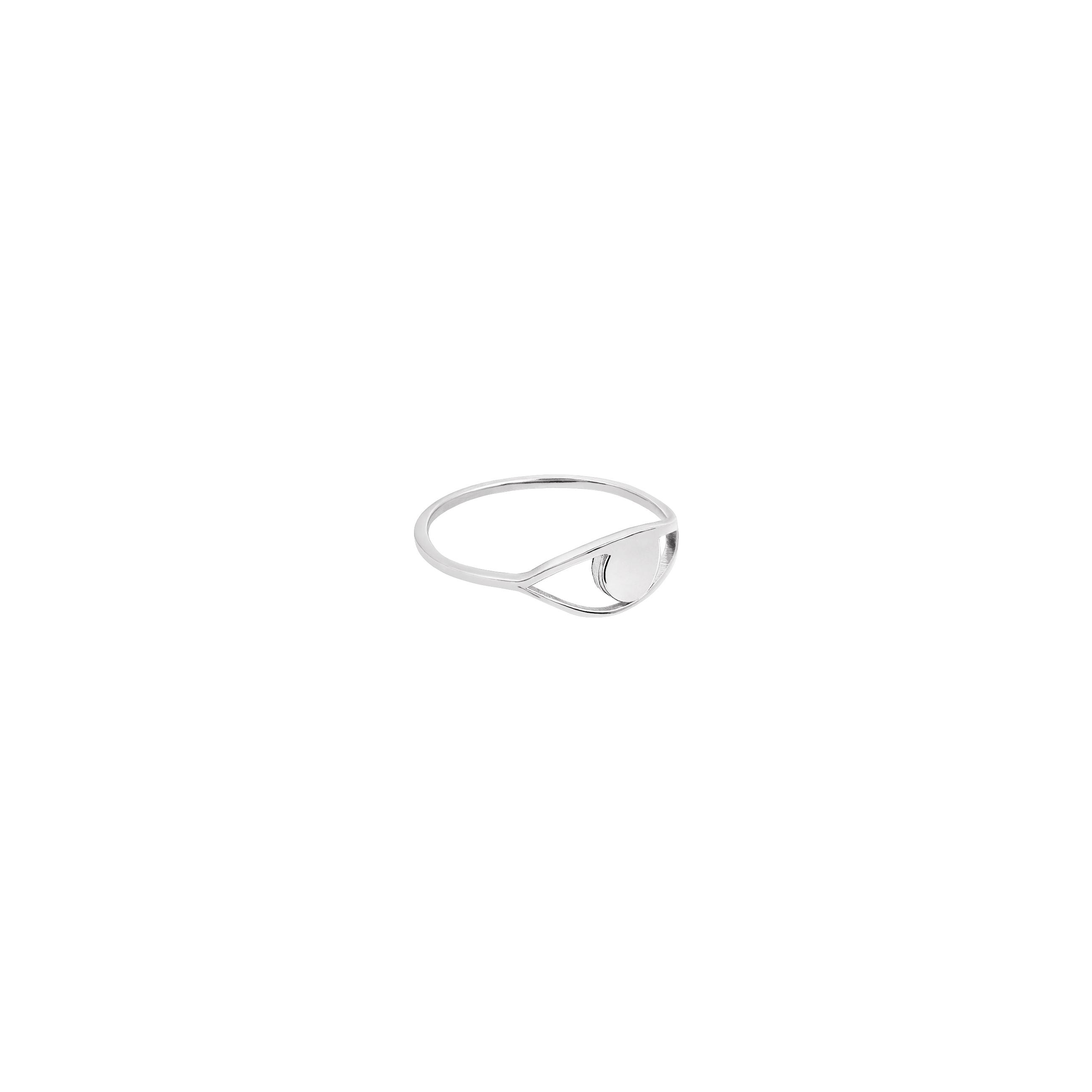 eye ring 2 silver