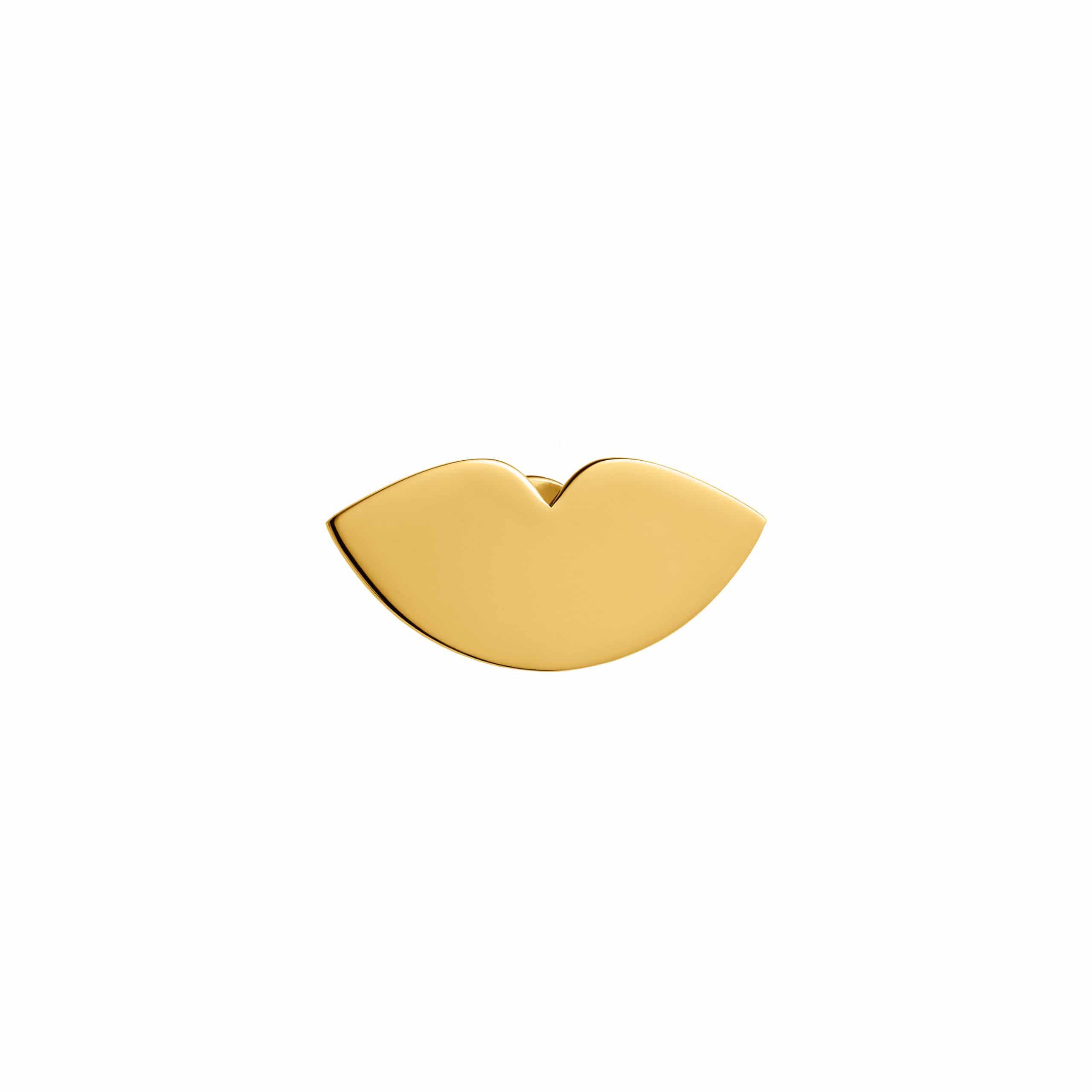 Lips Pin Gold