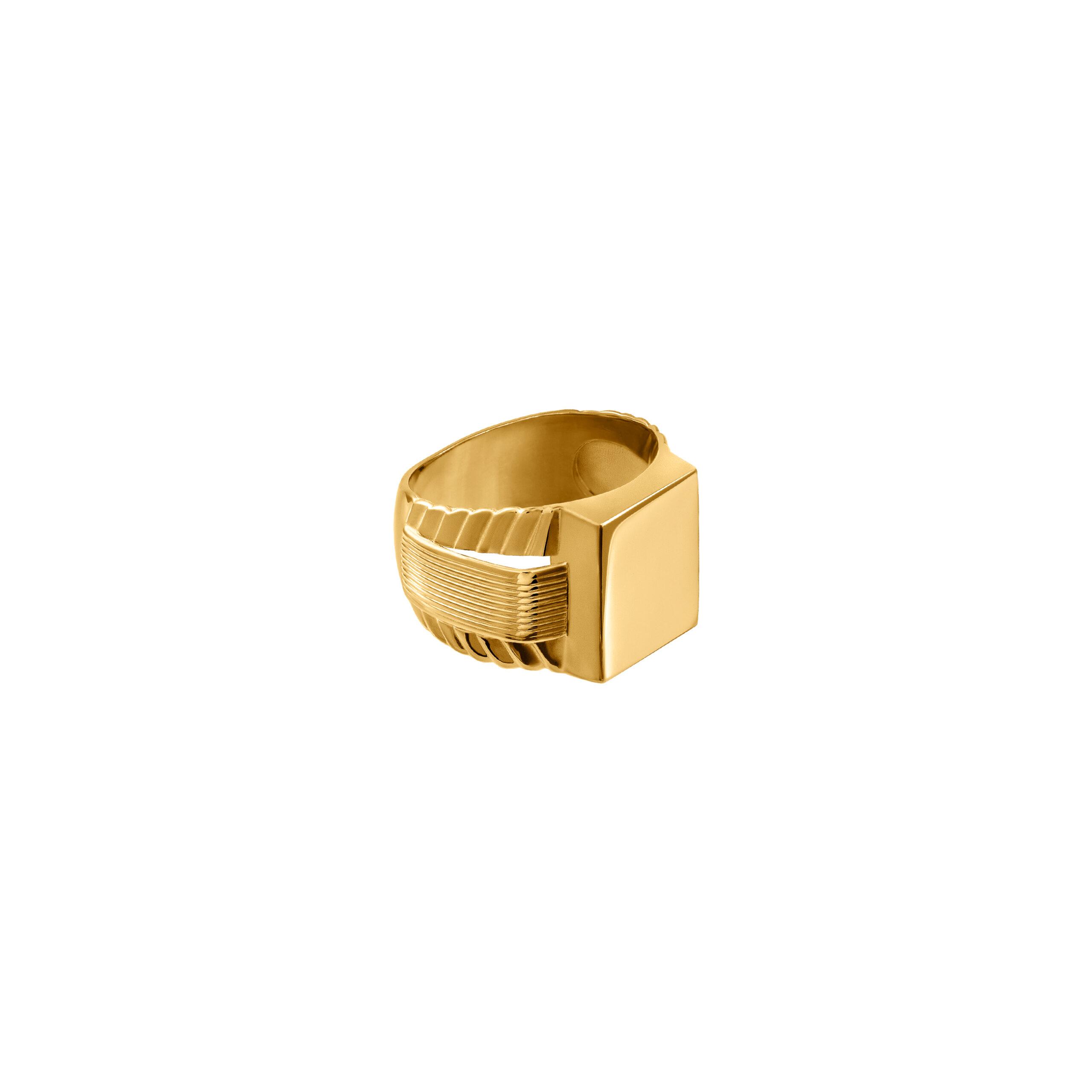 kwadratowy Sygnet Grandma /gold