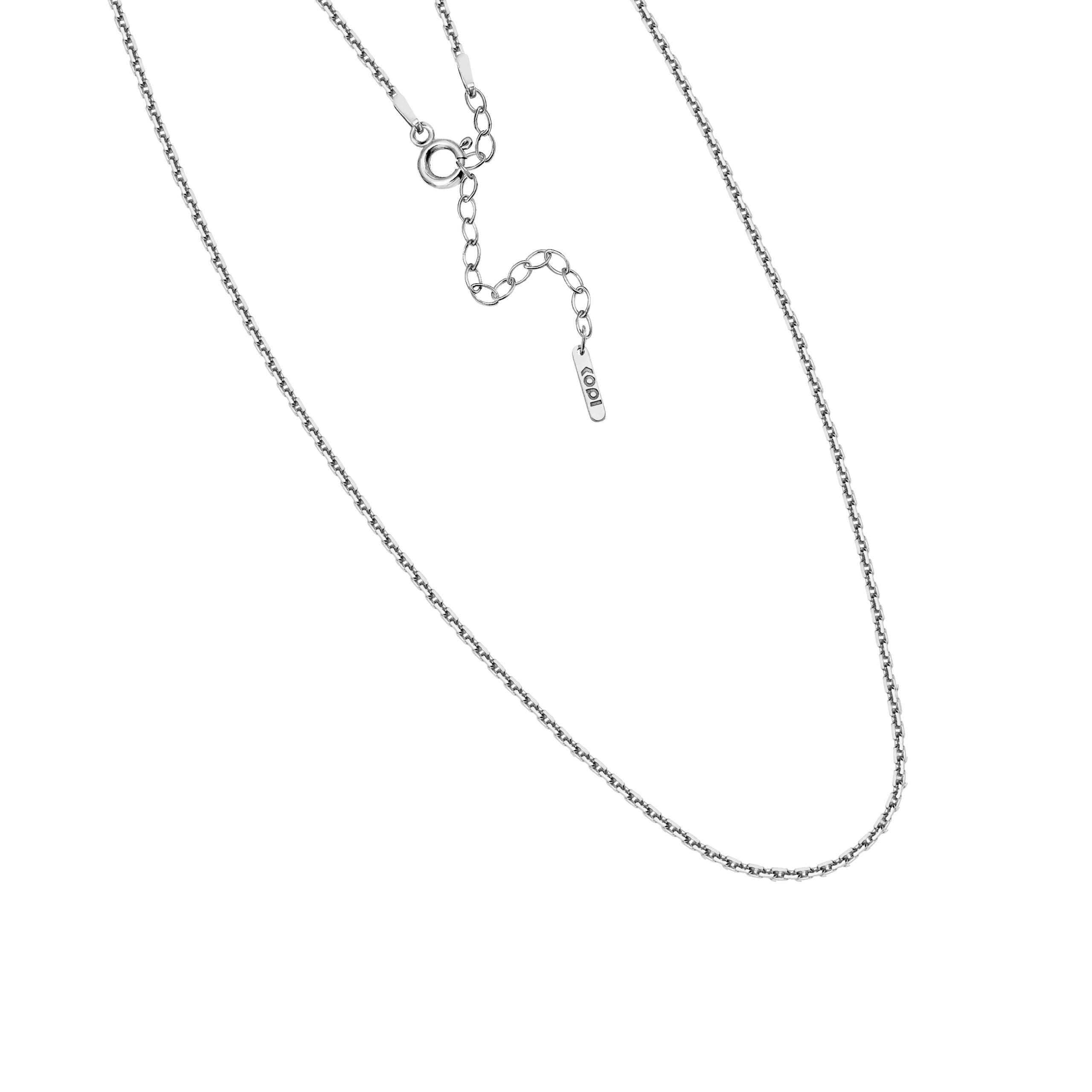 regulowany łańcuszek / średni/ silver