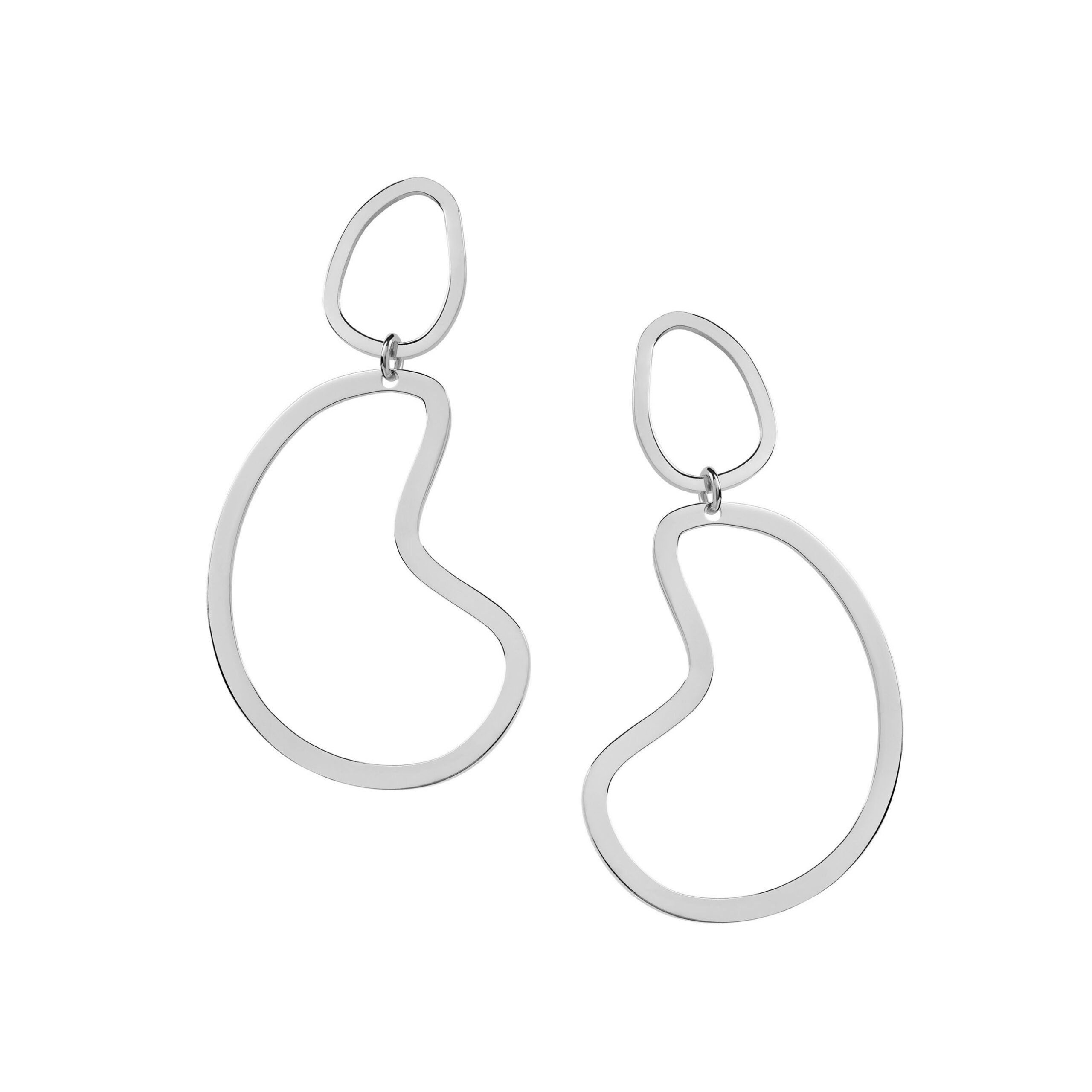 Big Arp Earrings Silver