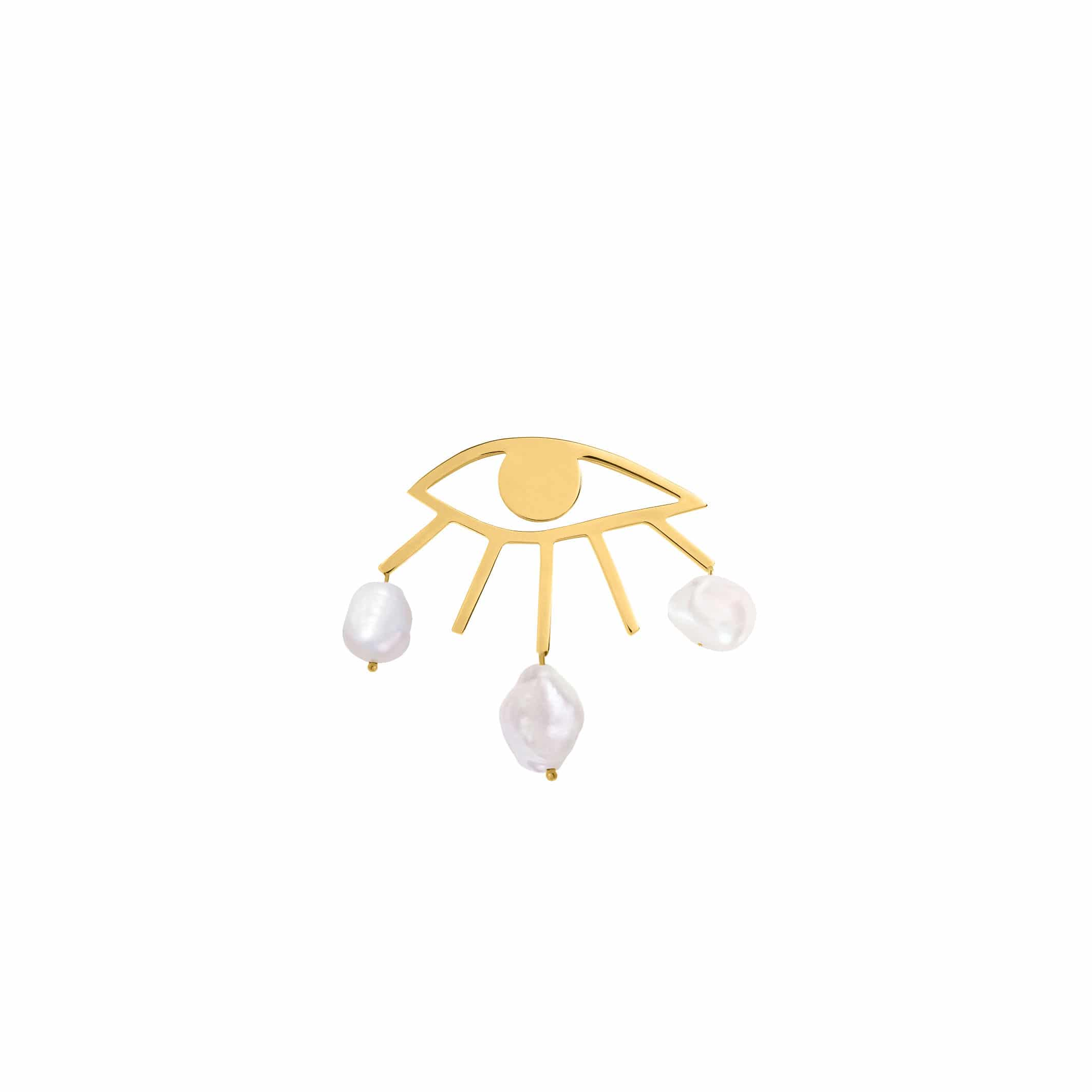eye pin gold / limited edition