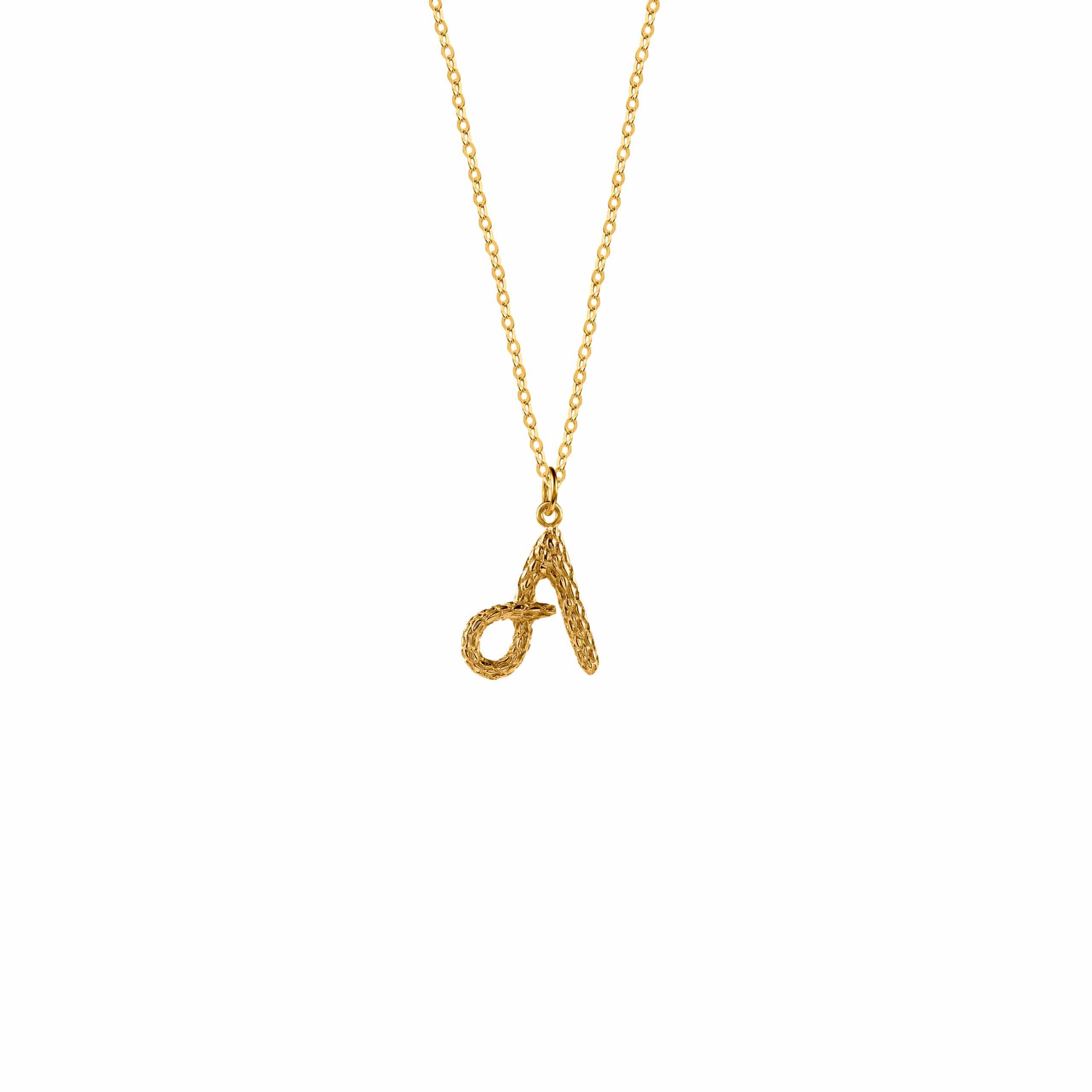 Naszyjnik z Literką A Gold