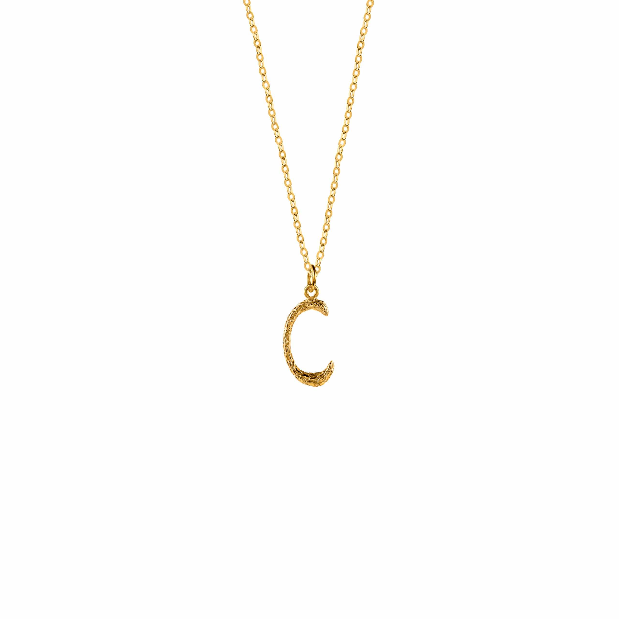 Naszyjnik z Literką C Gold