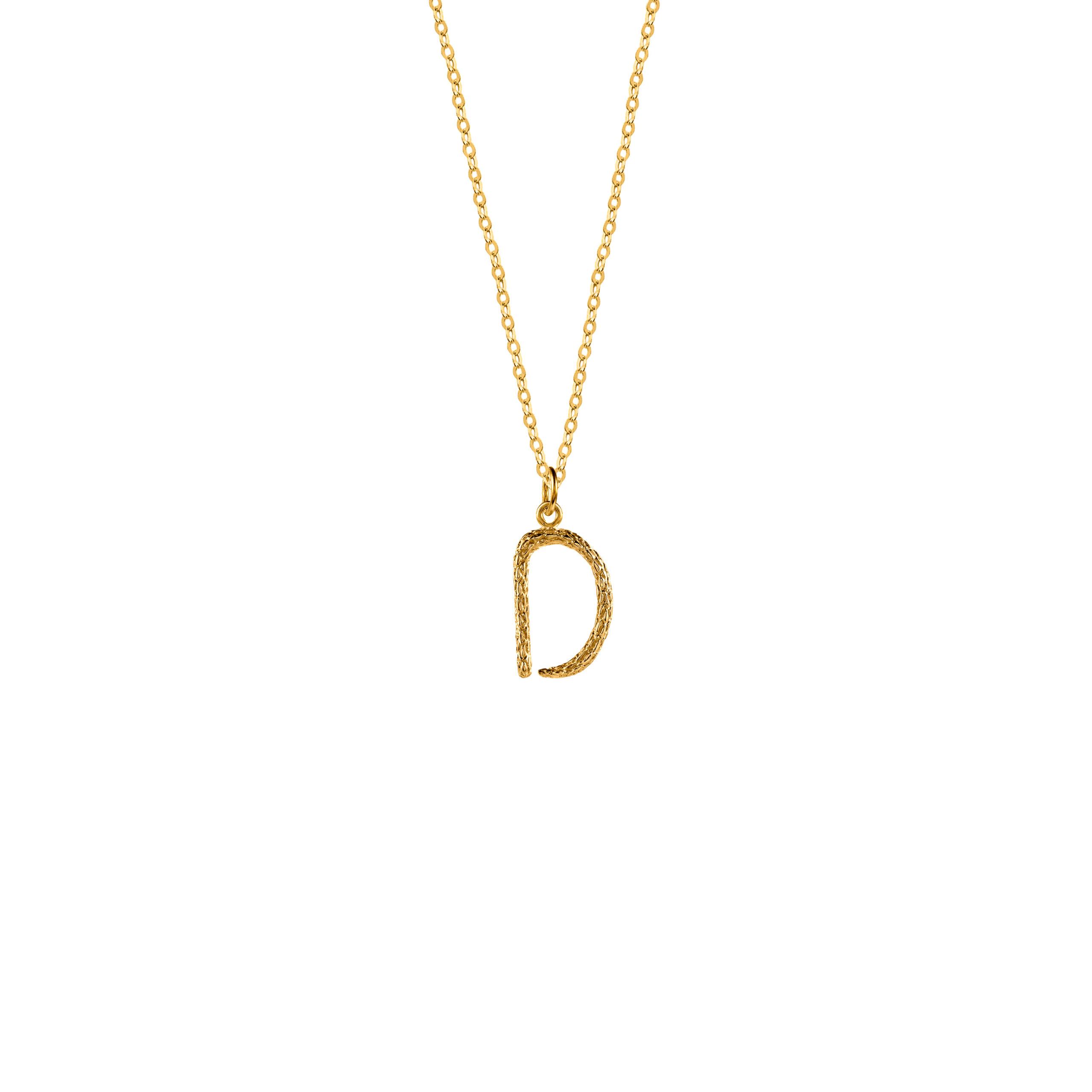Naszyjnik z Literką D Gold