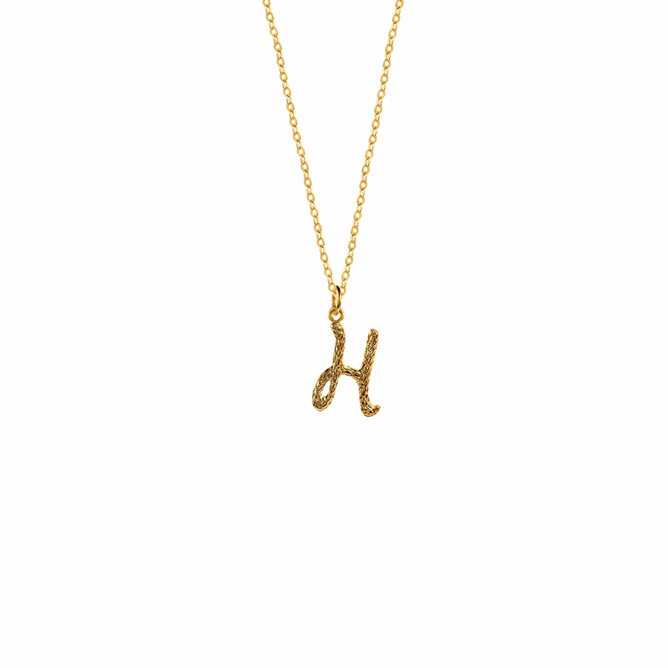 Naszyjnik z Literką H Gold