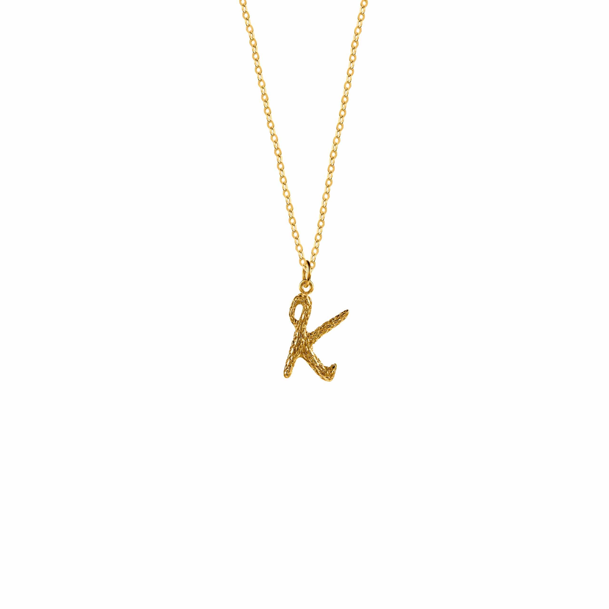Naszyjnik z Literką K Gold