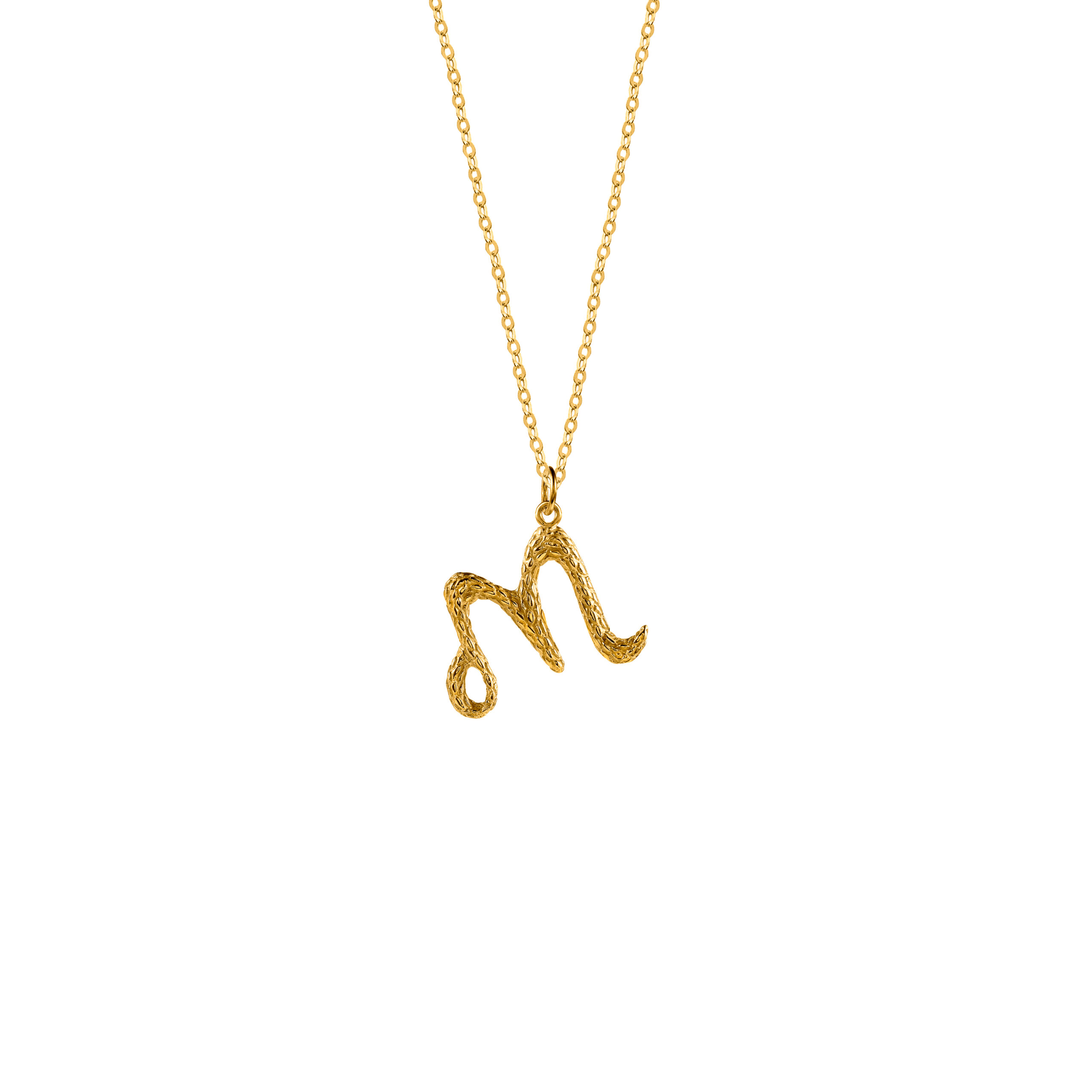 Naszyjnik z Literką M Gold