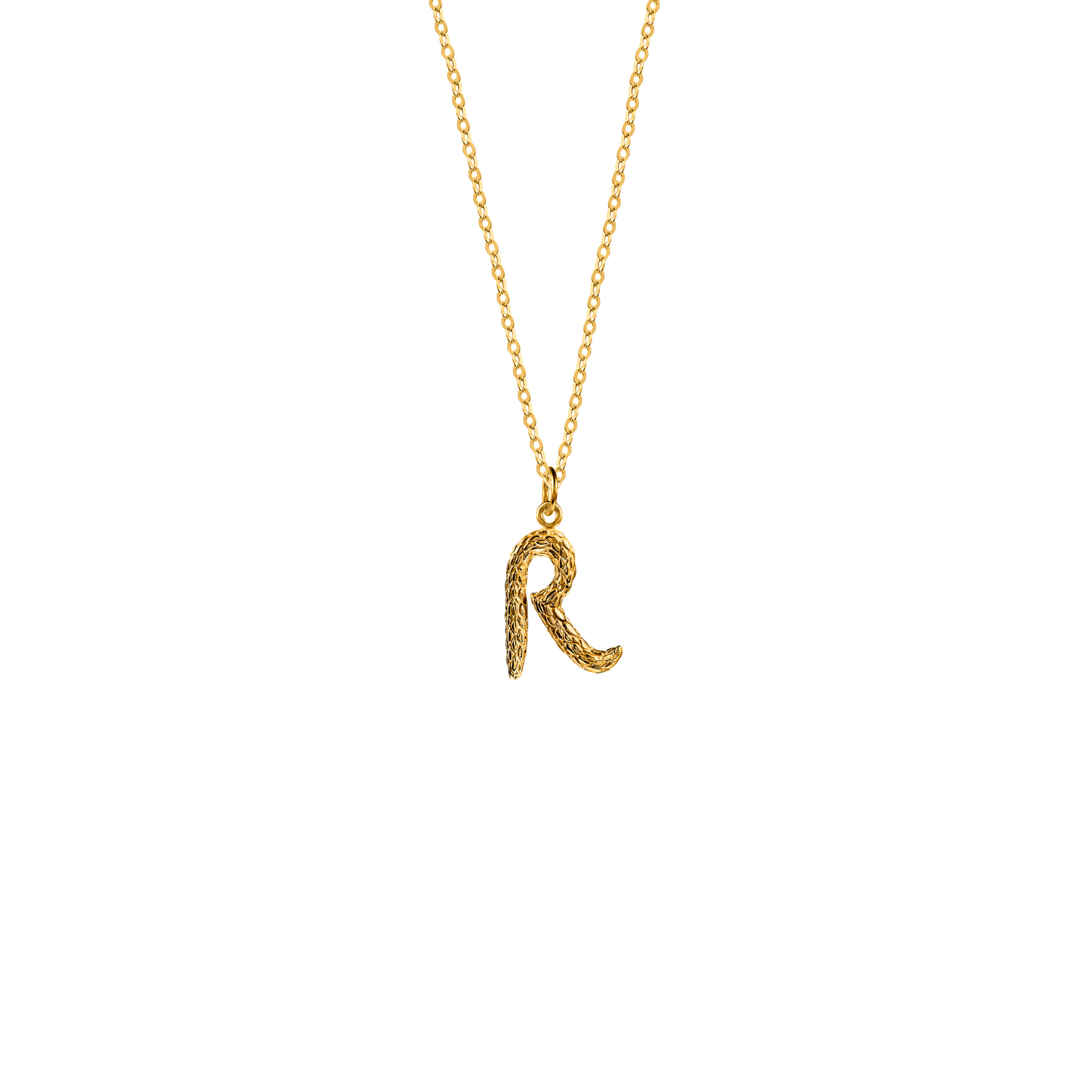 Naszyjnik z Literką R Gold