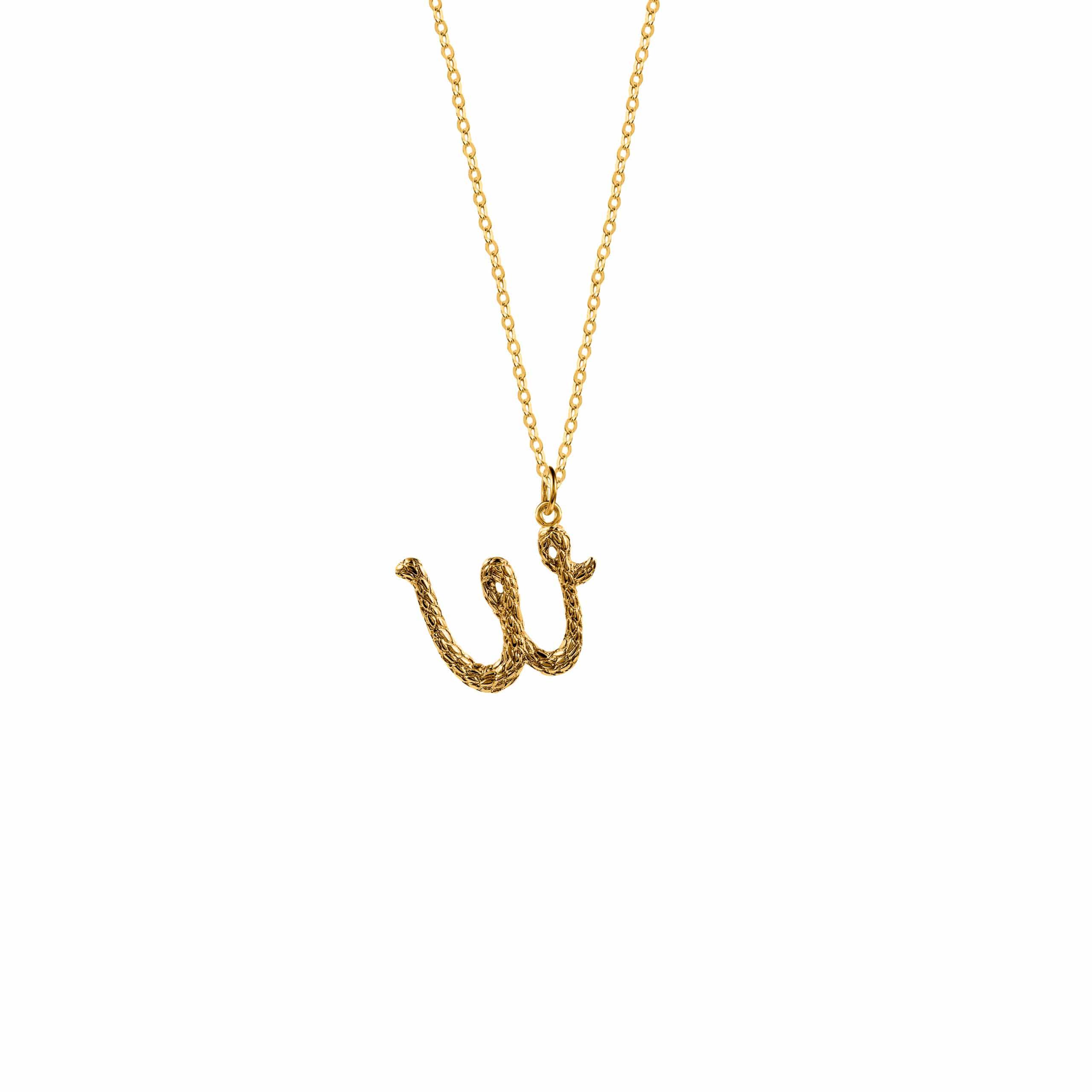 Naszyjnik z Literką W Gold