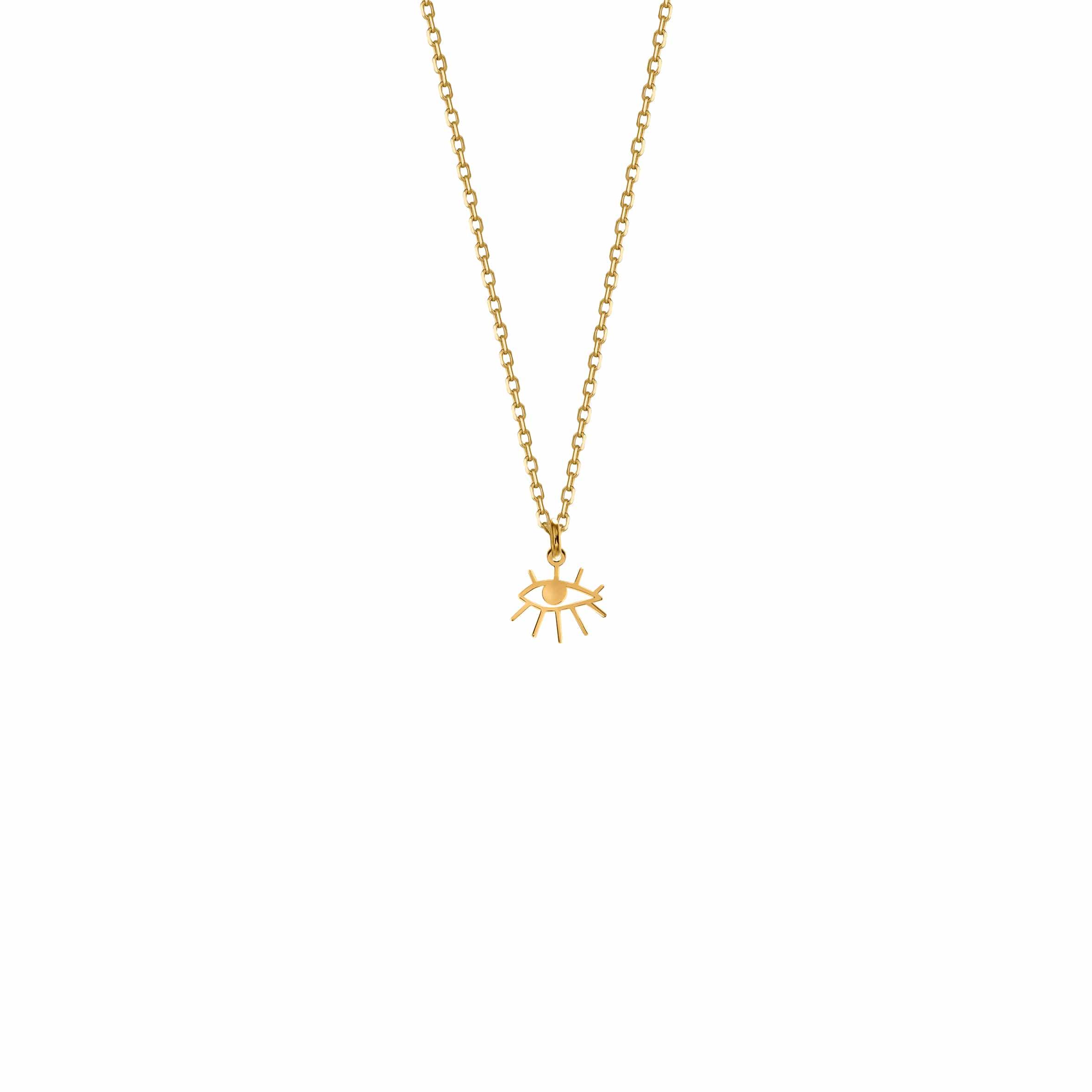 Mini Necklace Eye Gold
