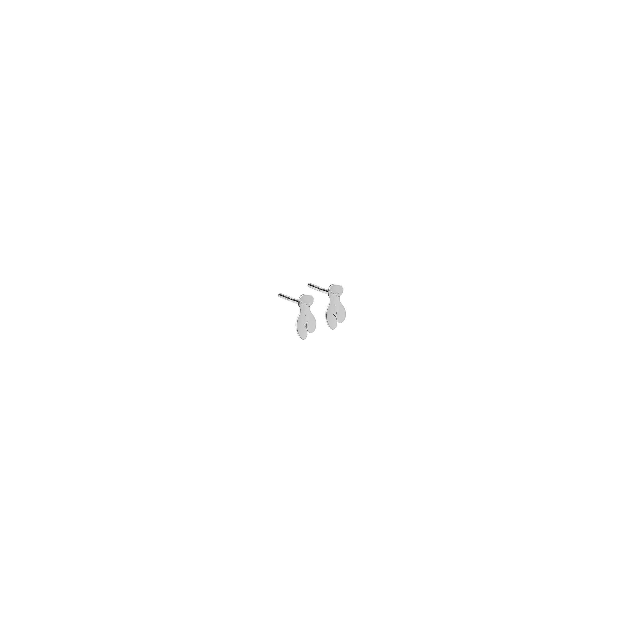 mini KOPI earrings – woman Silver