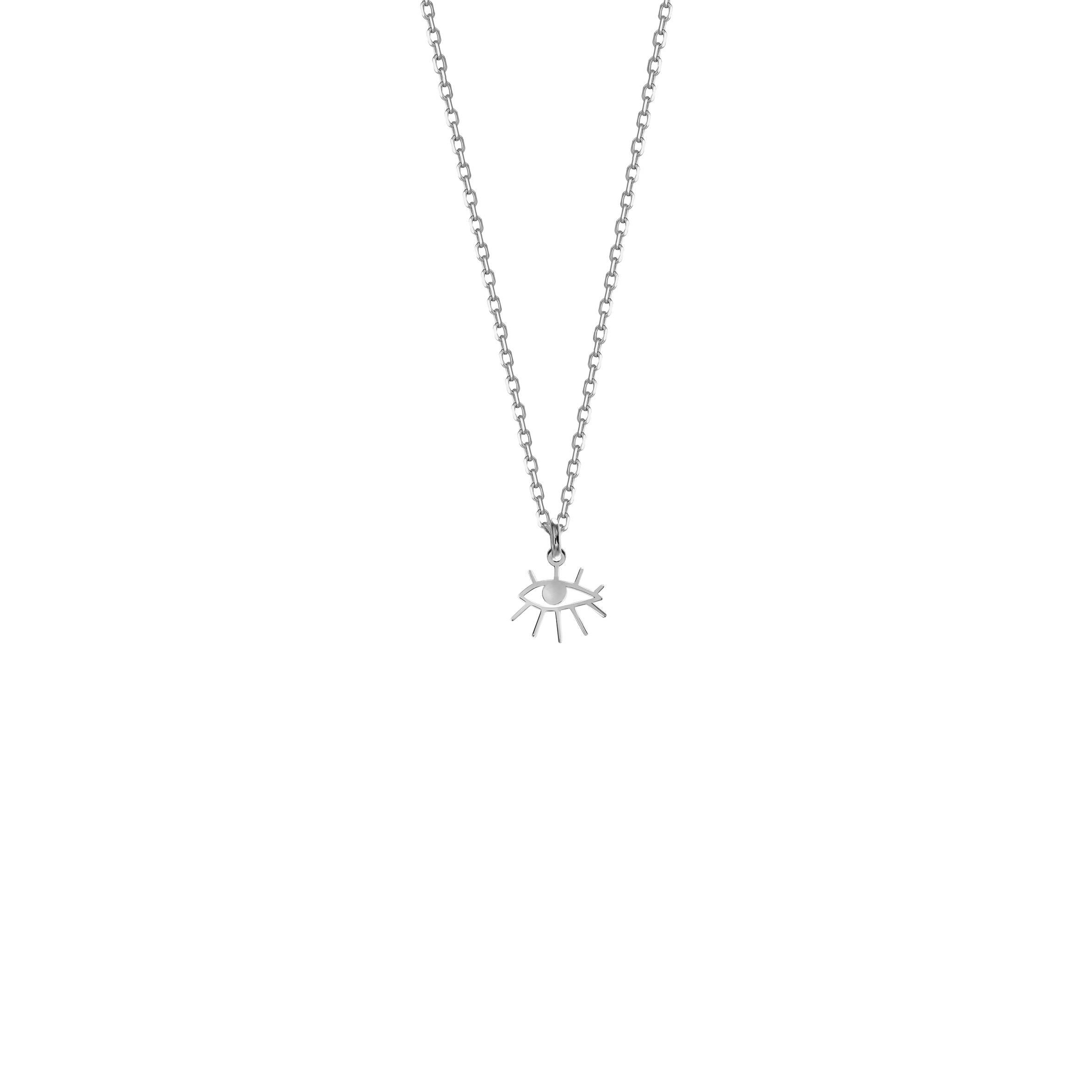 Mini Necklace Eye Silver